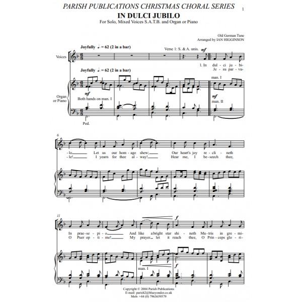 Higginson, Ian - In Dulci Jubilo (SATB & Keyboard)