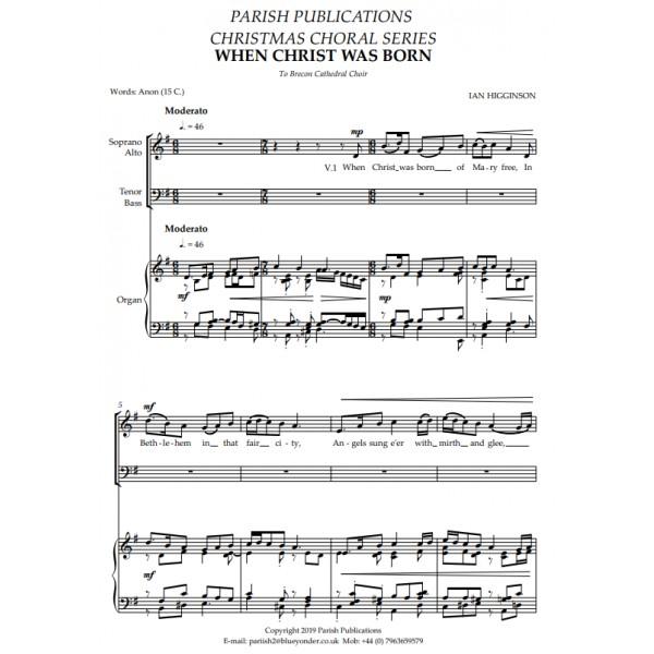 Higginson, Ian - When Christ Was Born of Mary Free (SATB & Keyboard)