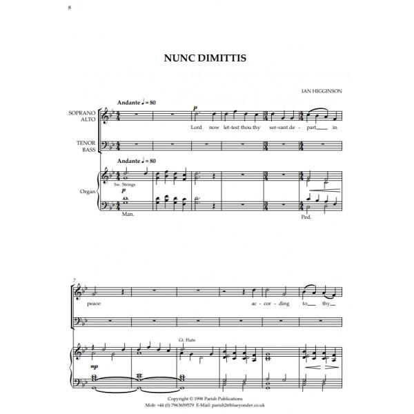 Higginson, Ian - Magnificat & Nunc Dimittis in G Major (SATB & Keyboard)