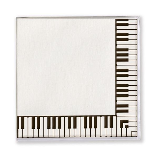 Keyboard Paper Napkins - 20 Pack