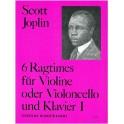 6 Ragtimes Für Violine und Klavier - Band I