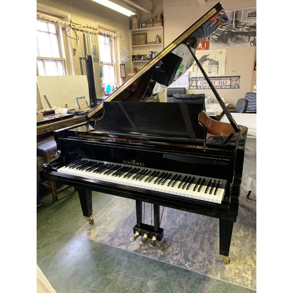 Schimmel 182 grand piano in black polyester (pre-owned)