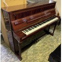 Sold -  Pre-owned Schimmel 112 Empire Upright Piano in Flame Mahogany Polyester