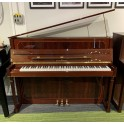 SOLD: Pre-owned Schimmel 112 Empire Upright Piano in Flame Mahogany Polyester