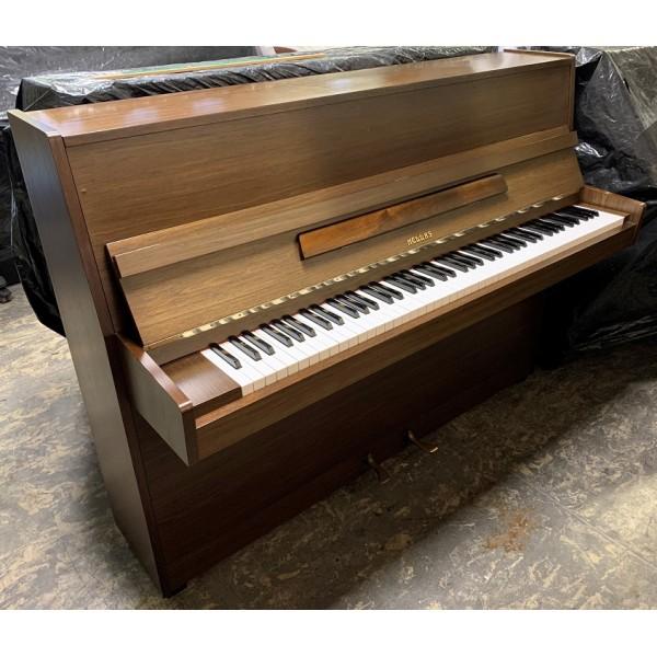 Hellas upright piano in Walnut Satin