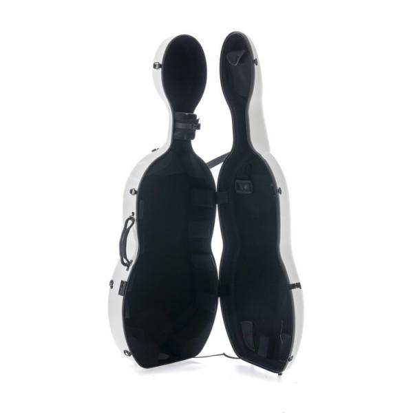 Gewa Pure Cello Case White / Black Interior