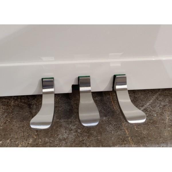 Ritmüller EU 112 Upright Piano brushed chrome pedals