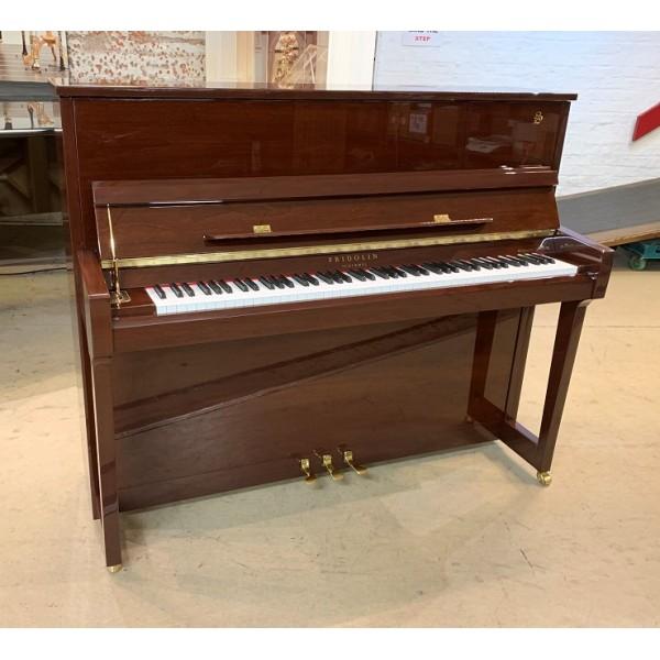 Fridolin F123T upright piano in mahogany polyester