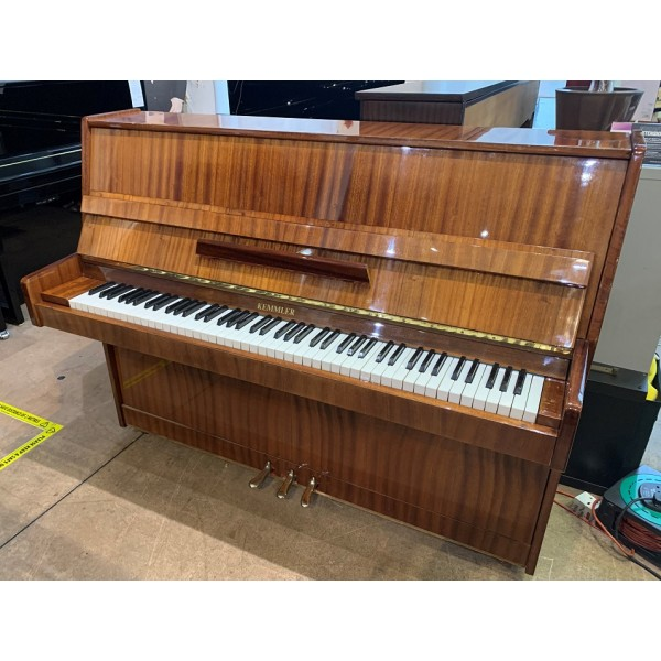 Kemmler upright piano in mahogany polyester (pre-owned)