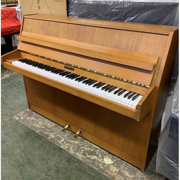 Kemble upright piano in teak satin