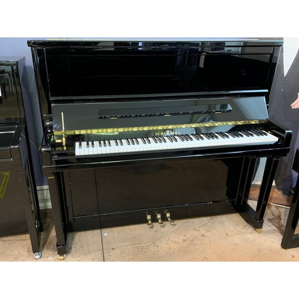 Schimmel K132TT TwinTone Silent upright piano in black polyester (Pre-owned)