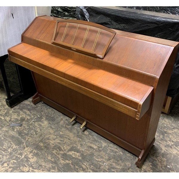 Eavestaff Mini Royal Upright Piano in Teak Satin