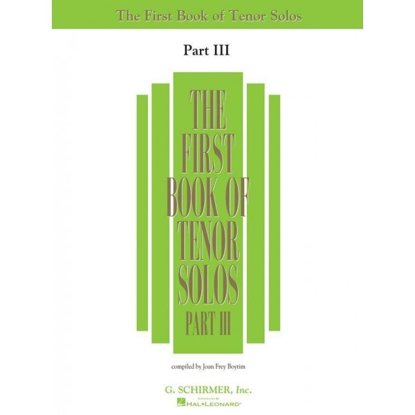 First Book of Tenor Solos - Part III