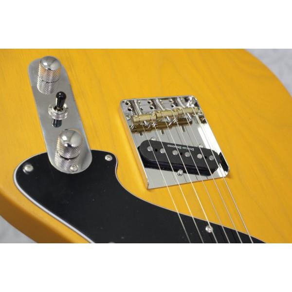 Cort Sunset TC Open Pore Mustard Yellow Electric Guitar