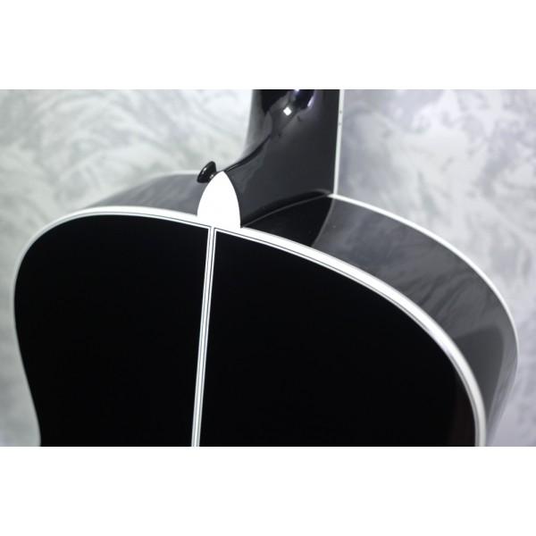 Auden Austin Full Body 12 String Black Acoustic Guitar