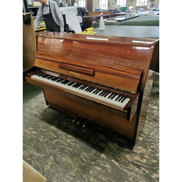 Ullman Upright Piano in Mahogany Polish, Pre-Owned