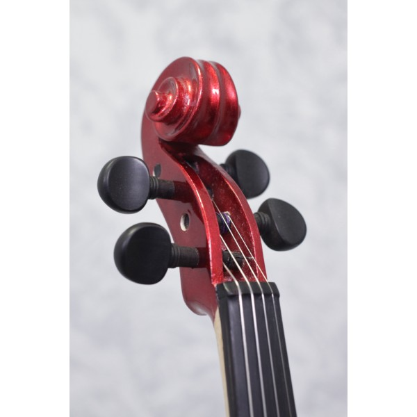 Stagg EVN X Metallic Red Electric Violin Outfit