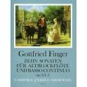 Finger: 10 Sonatas Op.3 Nos. 1-5