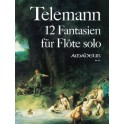Telemann 12 Fantasias for Flute Solo