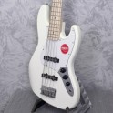 Squier Affinity Series Jazz Bass V Olympic White Maple Neck