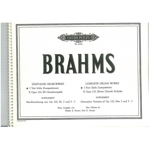 Brahms, Johannes - Organ Works (Complete), in 2 volumes, Vol.1