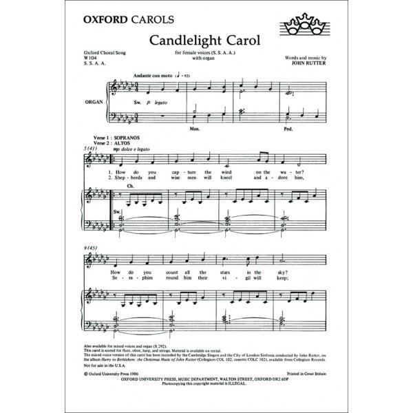 Candlelight Carol - Rutter, John