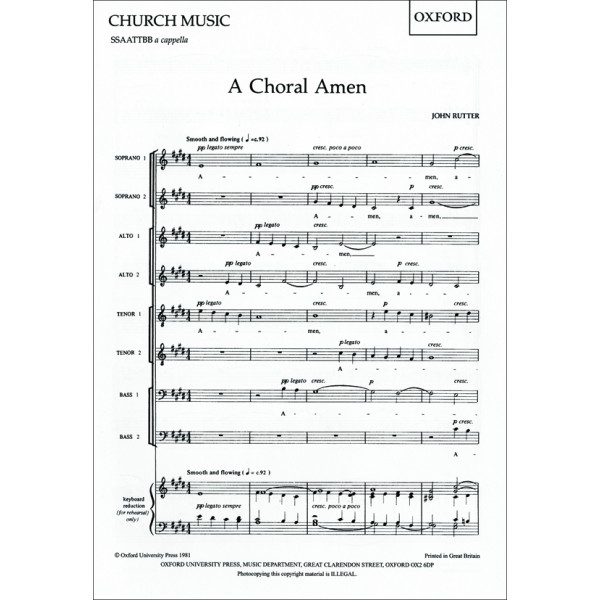 A Choral Amen - Rutter, John