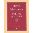 Matthews, David - String Quartet No.1 (score)