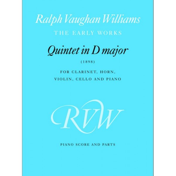 Vaughan Williams, Ralph - Quintet in D major (piano score & parts)