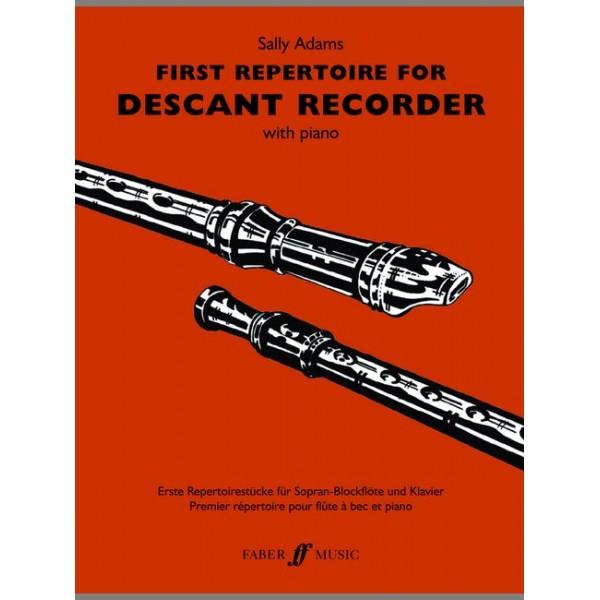 Adams, Sally - First Repertoire (desc.recorder and pno)