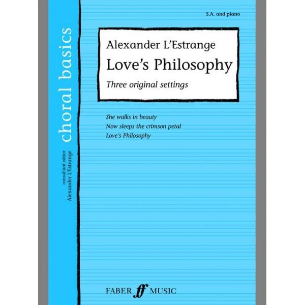 LEstrange, Alexander - Loves Philosophy. SA acc. (CBS)