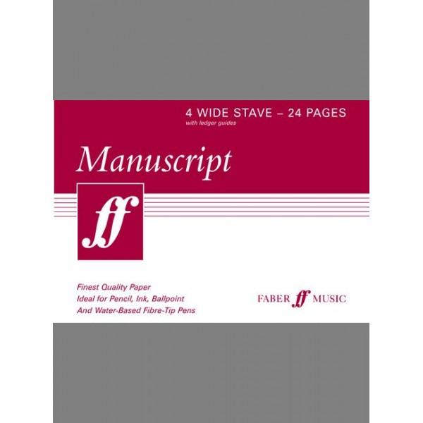 Faber Music - Manuscript A5 4-stave (wide) 24pp (white