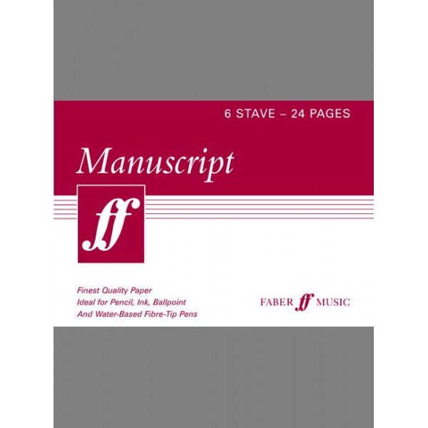 Faber Music - Manuscript A5 6-stave 24 pages (cream)