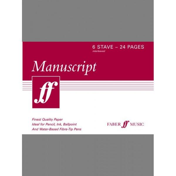 Faber Music - Manuscript A5 6-stave 24pp (interleaved)