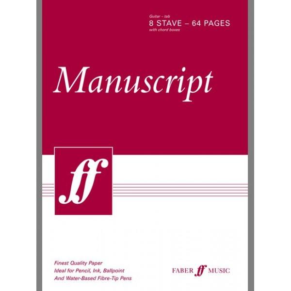 Faber Music - Manuscript A4 Gtr TAB 8-stave 64pp (pad)