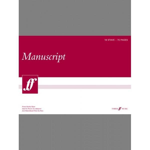 Faber Music - Manuscript A3 18-stave 75pp (white pad)