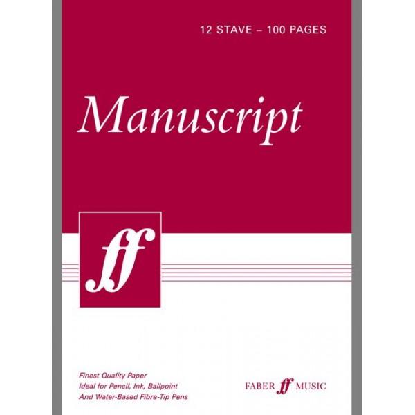 Faber Music - Manuscript A4 12-stave 100pp (white pad)