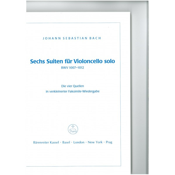 Bach J.S. - Suites (6) for Cello (BWV 1007 - 1012). The four sources in a