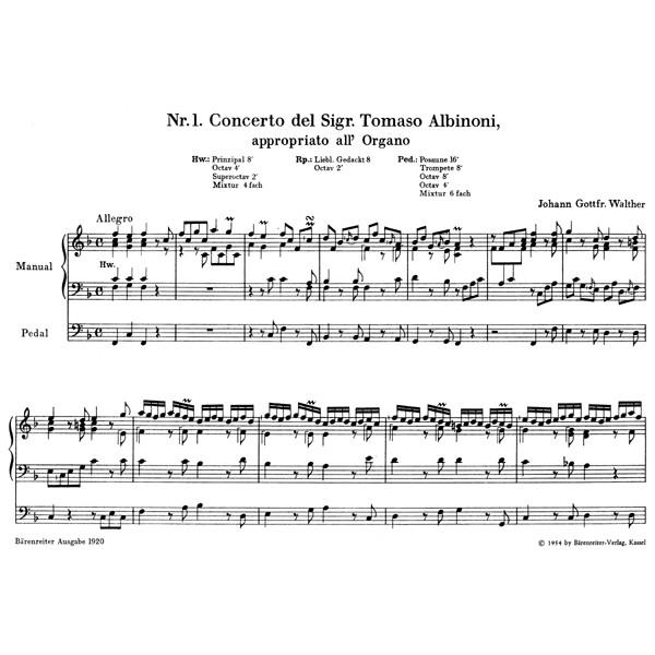 Walther J.G. - Organ Concertos after Various Masters.
