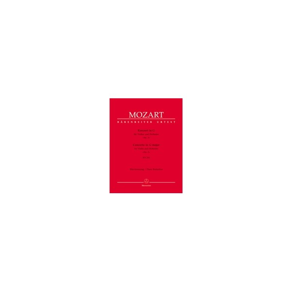 Mozart W.A. - Concerto for Violin No.3 in G (K.216) (Urtext).
