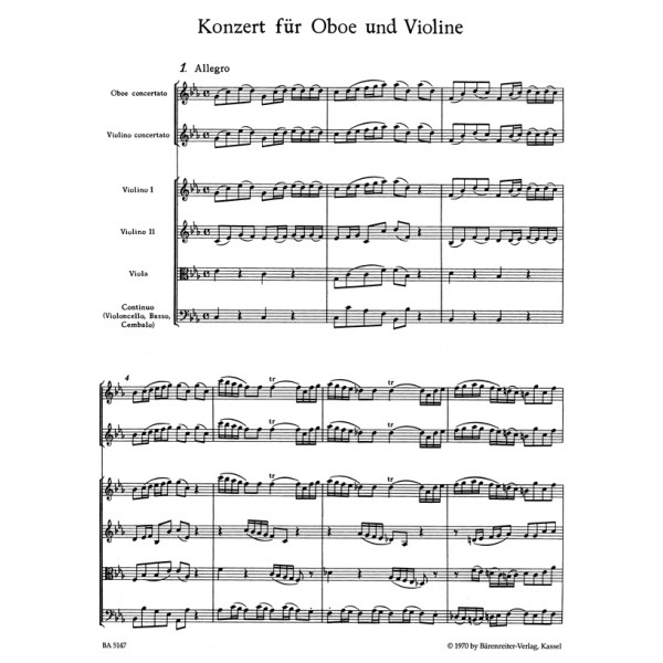 Bach J.S. - Concerto for Violin and Oboe in C minor