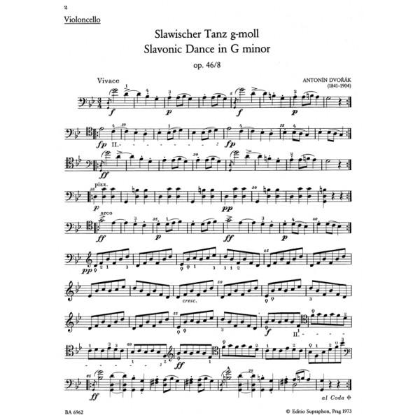 Dvorak A. - Slavonic Dances, Op.46/3 & 8 arranged for Cello and Piano.