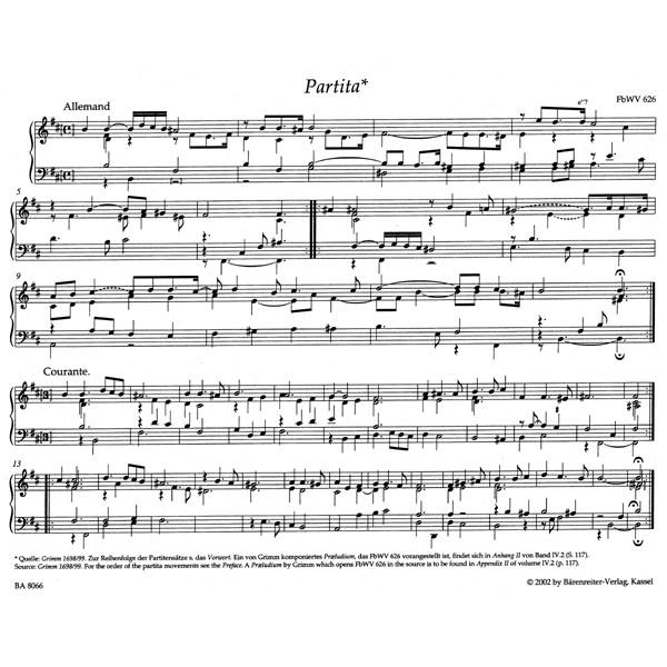 Froberger J.J. - Keyboard & Organ Works, Vol. 4/1. Clavier and Organ