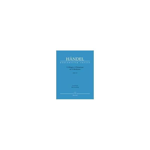 Handel G.F. - LAllegro, il Penseroso ed il Moderato (HWV 55) (E-G) (Urtext).
