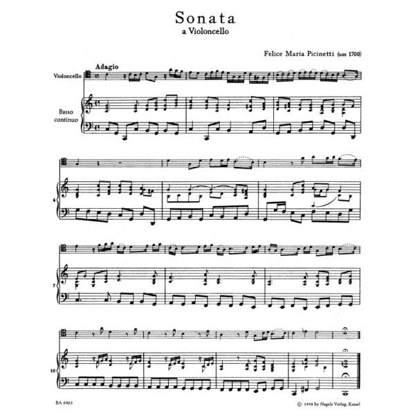 Picinetti F.M. - Sonata in C.