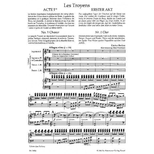 Berlioz H. - Les Troyens (complete opera) (F) (Urtext).