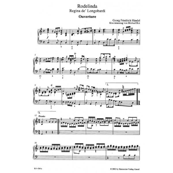 Handel G.F. - Rodelinda, Regina de Longobardi (HWV 19) (It) (Urtext).