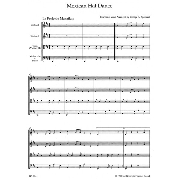 Various Composers - Mexican Hat Dance for Strings.