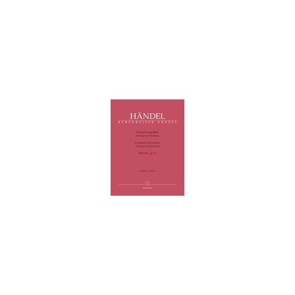 Handel G.F. - Concerto for Organ, Op.4/ 1 in G minor (HWV 289) (Urtext).