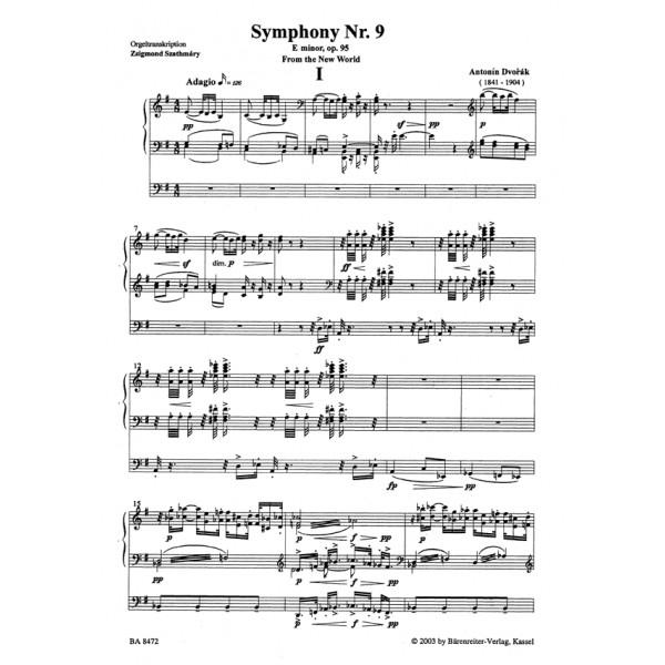 Dvorak A. - Symphony No. 9 in E minor, Op.95 (From the New World). Organ